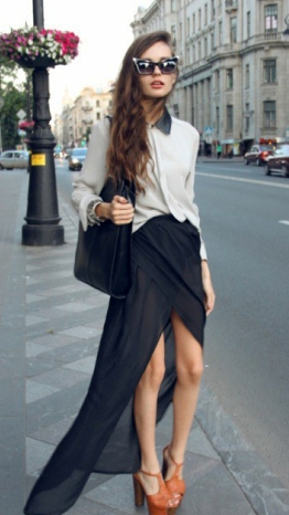 Asymmetrical-skirt