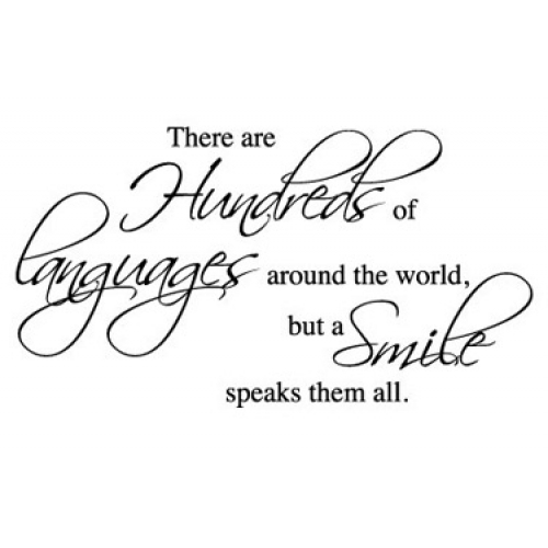 languages and smile
